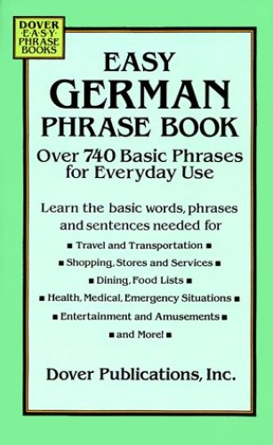 Easy German Phrase Book By Dover Publications Inc