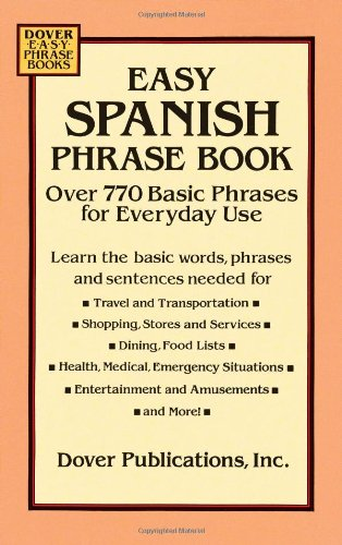 Easy Spanish Phrase Book By Dover Publications Inc