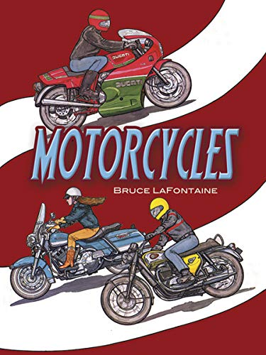 Motorcycles Colouring Book By Bruce LaFontaine