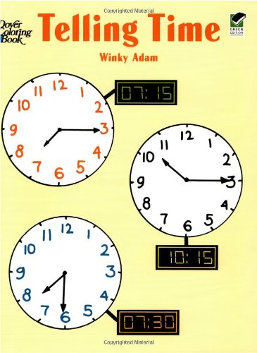 Telling Time (Dover Coloring Books) By Adam