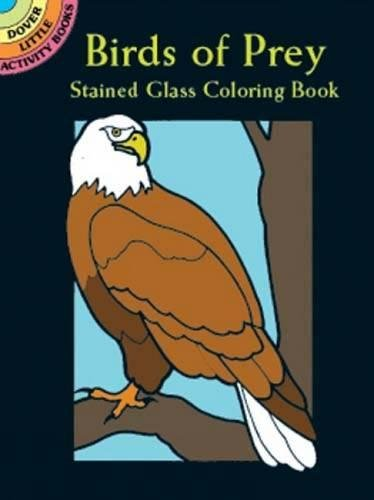 Birds of Prey Stained Glass Coloring Book By Ruth Soffer