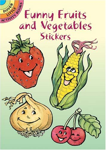 Funny Fruits and Vegetables Stickers By Nina Barbaresi