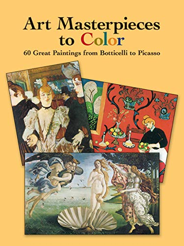 Art Masterpieces to Colour By Marty Noble