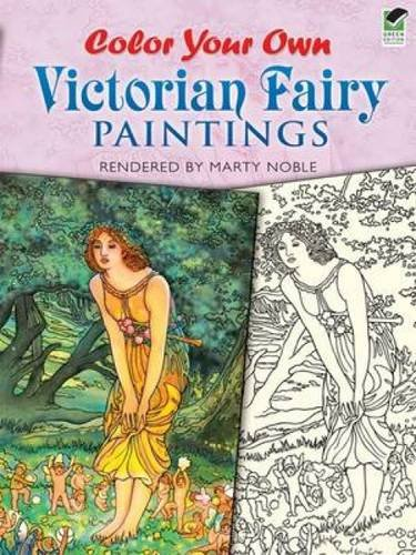 Color Your Own Victorian Fairy Paintings By Marty Noble