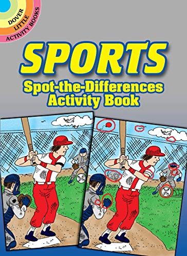 Sports Spot-The-Differences Activity Book By Tony J Tallarico
