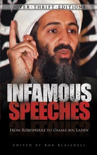 Infamous Speeches By Edited by Bob Blaisdell
