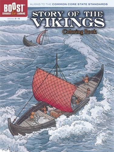 BOOST Story of the Vikings Coloring Book By Albert G. Smith
