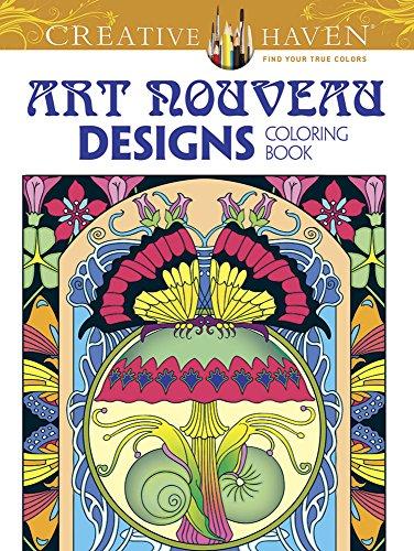 Creative Haven Art Nouveau Designs Collection Coloring Book By Dover Publications Inc