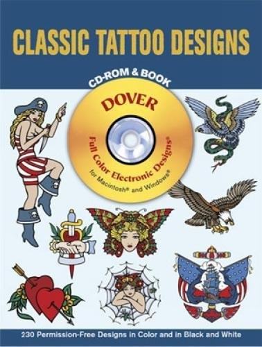 Classic Tattoo Designs CD-ROM and Book By Eric Gottesman