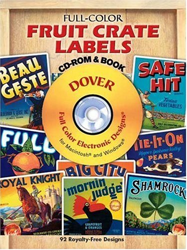Fruit Crate Labels By Dover publications