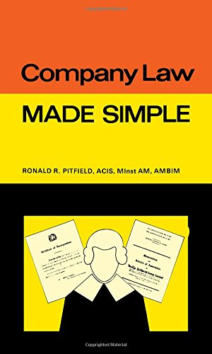 Company Law By Ronald R. Pitfield