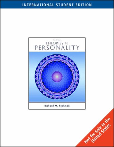 Theories of Personality, International Edition By Richard M. Ryckman