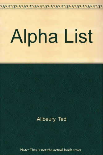 Alpha List By Ted Allbeury