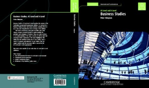 Cambridge International AS and A Level Business Studies Student's Coursebook By Peter Stimpson