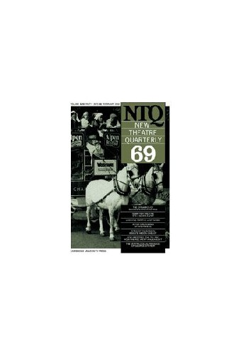 New Theatre Quarterly 69: Volume 18, Part 1 By Clive Barker (Rose Bruford College, UK)