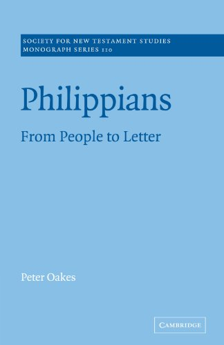 Philippians By Peter Oakes (University of Manchester)
