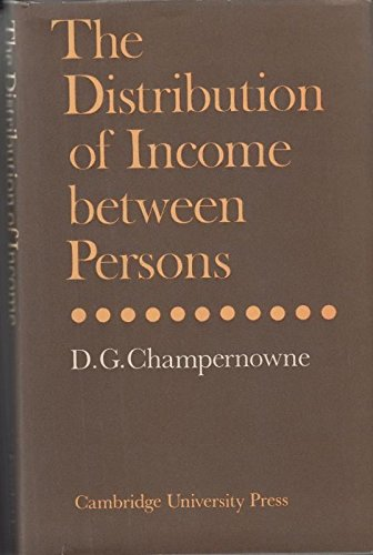 The Distribution of Income Between Persons By D.G. Champernowne