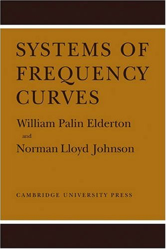 Systems of Frequency Curves By William Palin Elderton