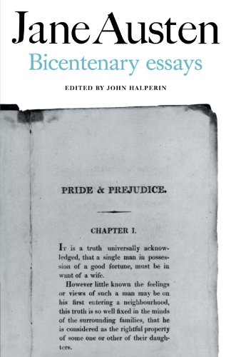 Jane Austen: Bicentenary Essays By John Halperin