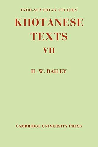 Indo-Scythian Studies By H. W. Bailey