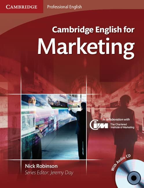 Cambridge English for Marketing Student's Book with Audio CD (Cambridge Professional English)