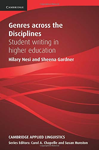 Genres across the Disciplines By Hilary Nesi (Coventry University)