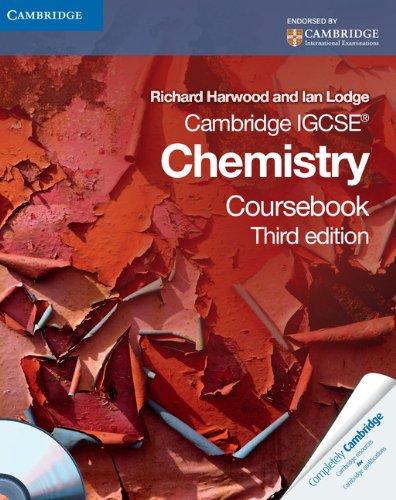 Cambridge IGCSE Chemistry Coursebook with CD-ROM By Richard Harwood