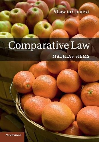 Comparative Law By Mathias M. Siems