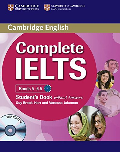 Complete IELTS Bands 5-6.5 Student's Book without Answers with CD-ROM By Guy Brook-Hart