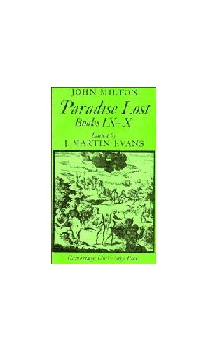 Paradise Lost: Books 9-10: Bks. 9 & 10 (Cambridge Milton Series for Schools and Colleges) By John Milton