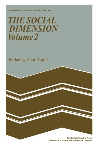 The Social Dimension: Volume 2 By Henri Tajfel
