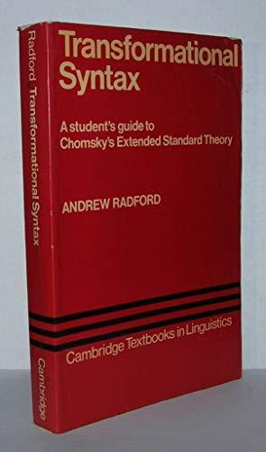 Transformational Syntax By Andrew Radford