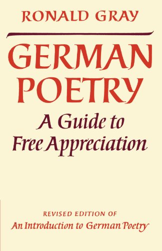 German Poetry By Ronald Gray