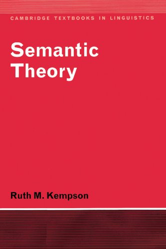 Semantic Theory By Ruth M. Kempson