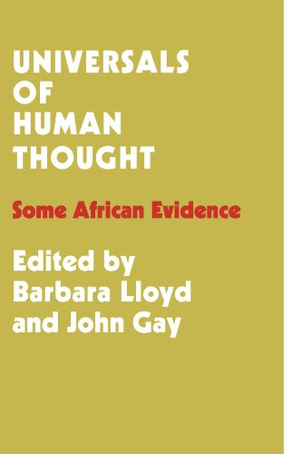 Universals of Human Thought By Barbara Bloom Lloyd