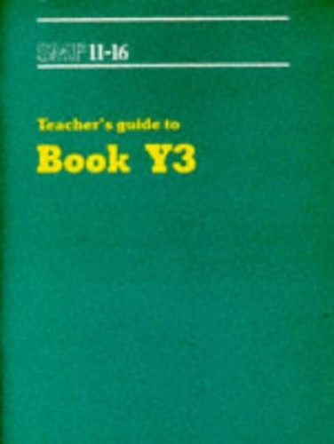 SMP 11-16 Teacher's Guide to Book Y3 By School Mathematics Project
