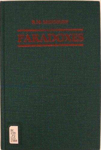 Paradoxes 1ed By R. M. Sainsbury