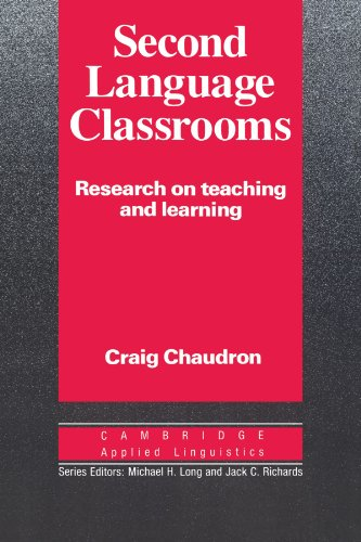 Second Language Classrooms By Craig Chaudron