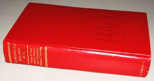 Numerical Recipes in C By William H. Press