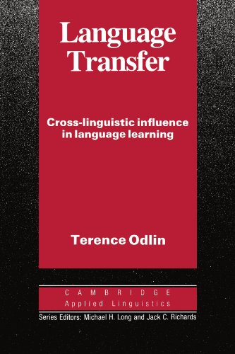 Language Transfer By Terence Odlin