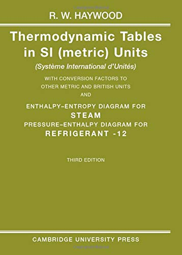 Thermodynamic Tables in SI (Metric) Units By R. W. Haywood (University of Cambridge)