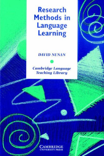 Research Methods in Language Learning By David Nunan