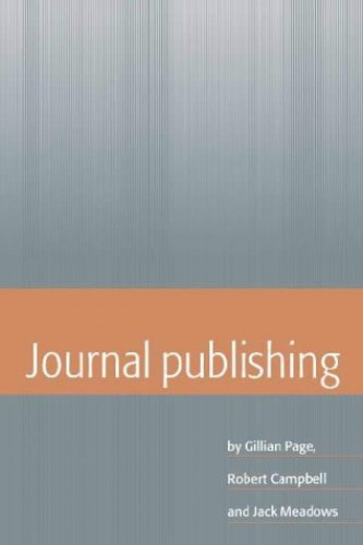 Journal Publishing By Gillian Page