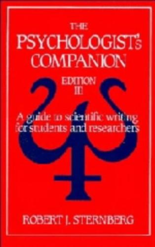 The Psychologist's Companion By Robert J. Sternberg