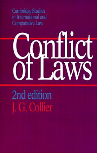 Conflict of Laws By J. G. Collier (University of Cambridge)