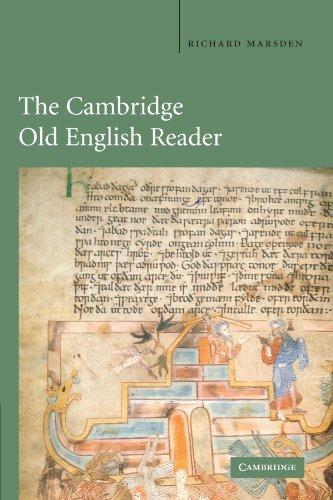 The Cambridge Old English Reader By Richard Marsden