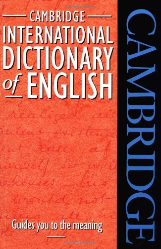 Cambridge International Dictionary of English By Paul Procter