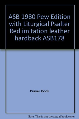 ASB 1980 Pew Edition with Liturgical Psalter Blue Imitation Leather Hardback By Prayer Book