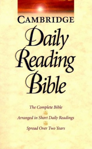 NRSV Cambridge Daily Reading Bible By Bible