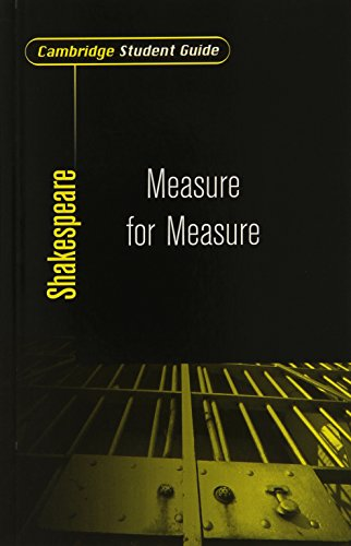 Cambridge Student Guide to Measure for Measure By Sheila Innes